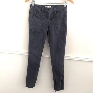 Madewell 25 Skinny Fatigue Dark Gray Jeans A5556